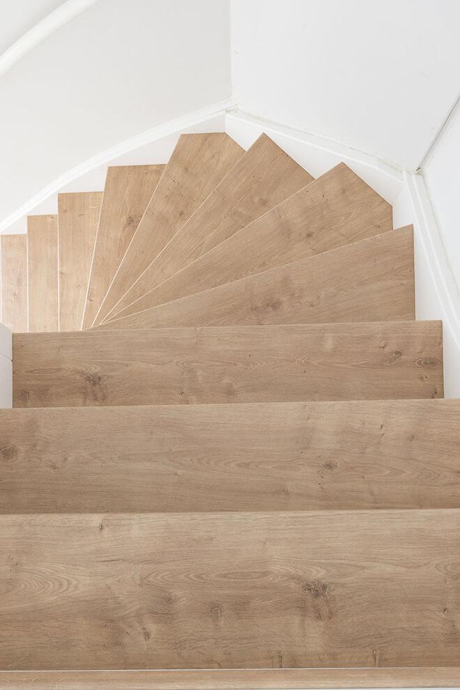 Traprenovatie - Werelds stijl - mountain oak - trap